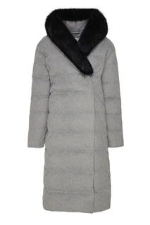 Светло-серое пуховое пальто Akhmadullina Dreams