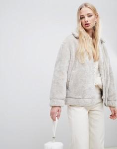 Куртка из мягкого искусственного меха Vero Moda - Кремовый