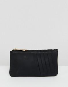 Кожаный кошелек для монет ASOS DESIGN - Черный