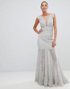 Платье макси с глубоким вырезом Forever Unique - Серый