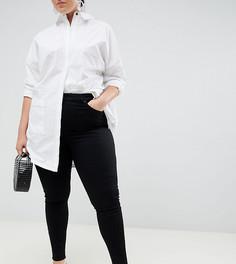 Черные премиум-джинсы с завышенной талией ASOS DESIGN Curve Sculpt me - Черный