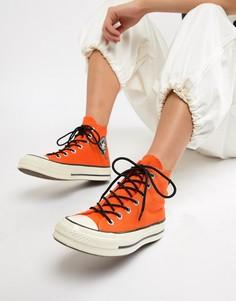 Высокие оранжевые непромокаемые кеды Converse X Gore-tex Chuck 70 - Оранжевый