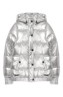 Куртка с капюшоном и металлизированной отделкой DKNY