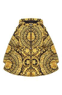Куртка на молнии с капюшоном и поясом Young Versace