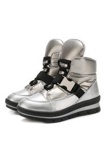 Утепленные текстильные ботинки на шнуровке Jog Dog