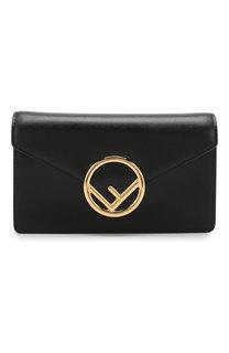 Кожаная поясная сумка с логотипом бренда Fendi