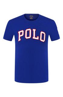 Хлопковая футболка с нашивками Polo Ralph Lauren