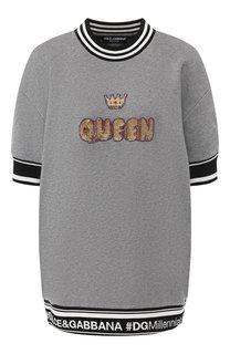 Хлопковый пуловер с коротким рукавом Dolce & Gabbana