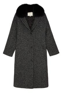 Удлиненное пальто с меховым воротником Akhmadullina Dreams