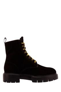 Кожаные ботинки с контрастной шнуровкой O.X.S.