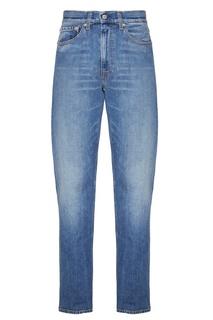 Голубые джинсовые брюки Calvin Klein