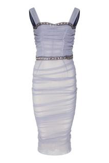 Коктейльное платье с отделкой Dolce & Gabbana