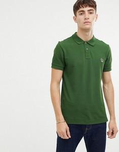 Зеленая узкая футболка-поло с логотипом PS Paul Smith - Зеленый
