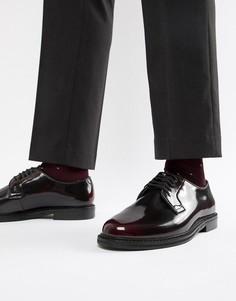 Блестящие бордовые туфли на шнуровке WALK London Darcy - Красный
