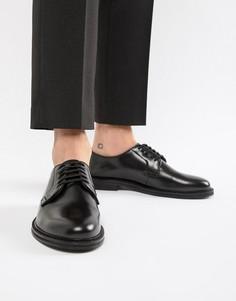 Черные блестящие туфли на шнуровке WALK London Darcy - Черный