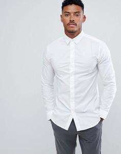 Белая узкая рубашка с длинными рукавами SikSilk - Белый
