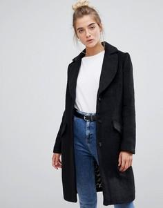 Пальто с добавлением шерсти Soaked In Luxury - Черный