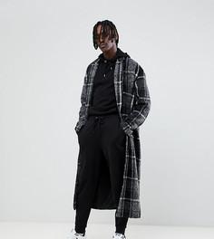 Серое удлиненное пальто в клетку The New County - Серый