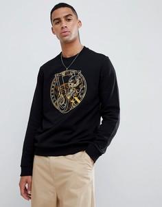 Свитшот с принтом на груди Versace Jeans - Черный