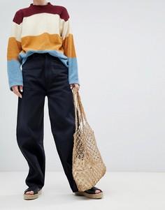 Укороченные широкие джинсы из органического хлопка Kings Of Indigo Leila - Черный
