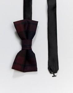 Красный галстук-бабочка в клетку Twisted Tailor - Красный