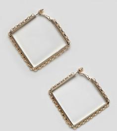 Крупные золотистые серьги-кольца DesignB London - Золотой