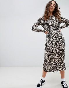 Свободное платье мидакси с леопардовым принтом Daisy Street - Мульти