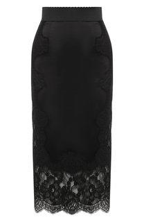 Юбка-карандаш с кружевной отделкой Dolce & Gabbana