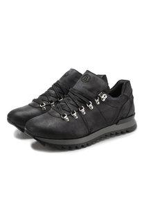 Кожаные кроссовки на шнуровке Bogner