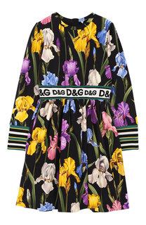 Хлопковое платье с эластичными вставками Dolce & Gabbana