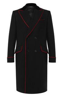 Двубортное пальто из шерсти Dolce & Gabbana
