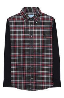 Хлопковая рубашка с воротником кент Lanvin