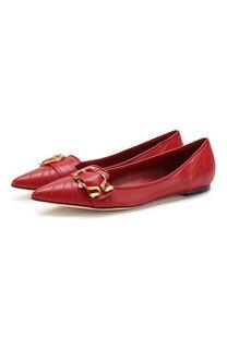 Кожаные балетки Devotion с пряжкой Dolce & Gabbana