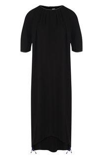 Однотонное платье-миди свободного кроя Marni