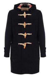 Шерстяное пальто с капюшоном Burberry
