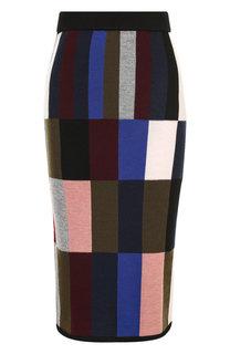 Шерстяная юбка-карандаш с принтом Victoria, Victoria Beckham