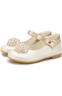 Кожаные туфли на застежке велькро с декором из бусин Missouri