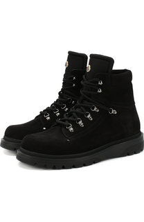 Высокие кожаные ботинки на шнуровке Moncler