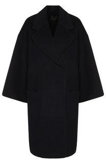 Однотонное пальто из смеси шерсти и кашемира со спущенным рукавом Theory