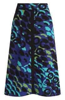 Вязаная юбка-миди из смеси хлопка и шерсти M Missoni