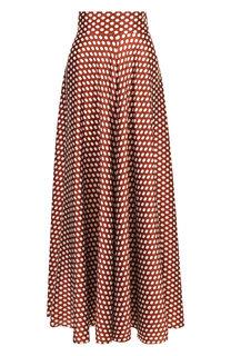 Шелковая юбка-макси в горох Diane Von Furstenberg