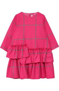 Платье с декоративными оборками Il Gufo