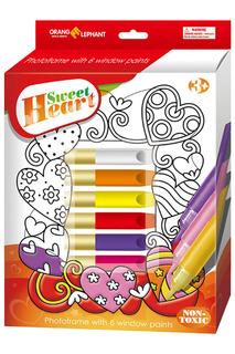 Витражные краски с витражом Orange Elephant