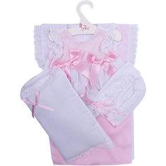 Одежда для кукол Asi Платье и чепчик с одеялом и подушкой, 45 см