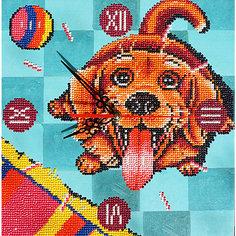 """Алмазная вышивка Color KIT """"Алмазные часы"""" Счастливый пёс, 30х30 см"""