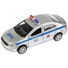 """Машинка Технопарк """"Volkswagen Polo"""" Полиция, 12 см"""