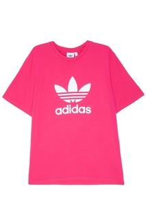 Розовая свободная футболка Adidas