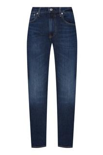 Синие брюки с выбеленным эффектом Calvin Klein