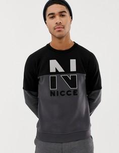 Черный свитшот с логотипом на груди Nicce - Черный