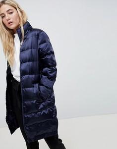 Длинное стеганое пальто Blend She - Темно-синий